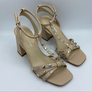 New Marc Fisher Quilon Square toe studded sandals